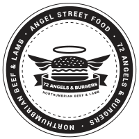 Angels and Burgers Sticker