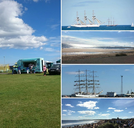 Setting up for Blyth Tall Ships