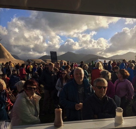 Such a beautiful queue view at Keswick Mountain Festival